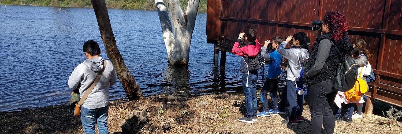 athalassa park children birdwatching